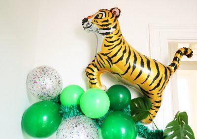 ballon tigre, guirlande ballon