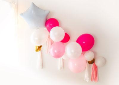guirlande de ballons déco anniversaire princesse
