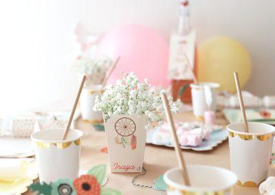 déco boheme, pot fleurs, pot fleuri, attrape rêve, légereté, douceur