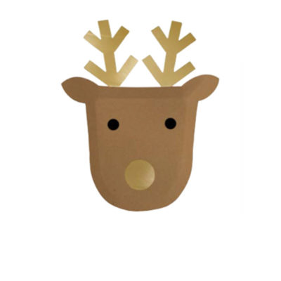 table enfant noel kids assiettes cerfs
