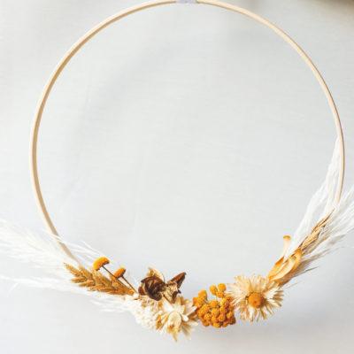 Kit DIY Couronne fleurs séchées