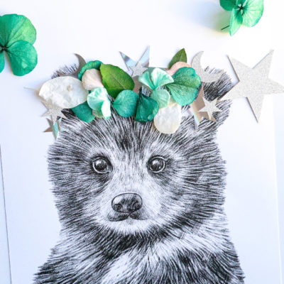 Kit DIY Illustration fleurs séchées
