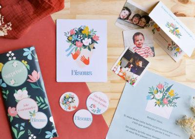 box cadeau pensée photo