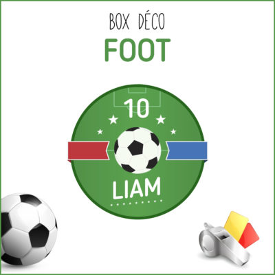 BOX déco Foot