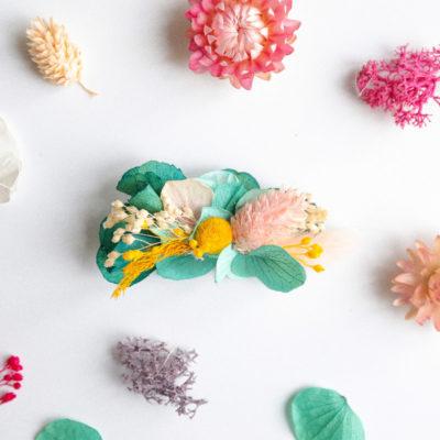Kit DIY Barrette fleurs séchées