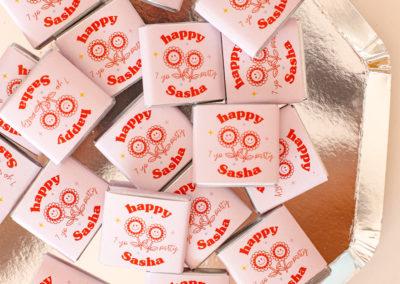 chocolats personnalisés pour offrir à vos invités, à vos clients