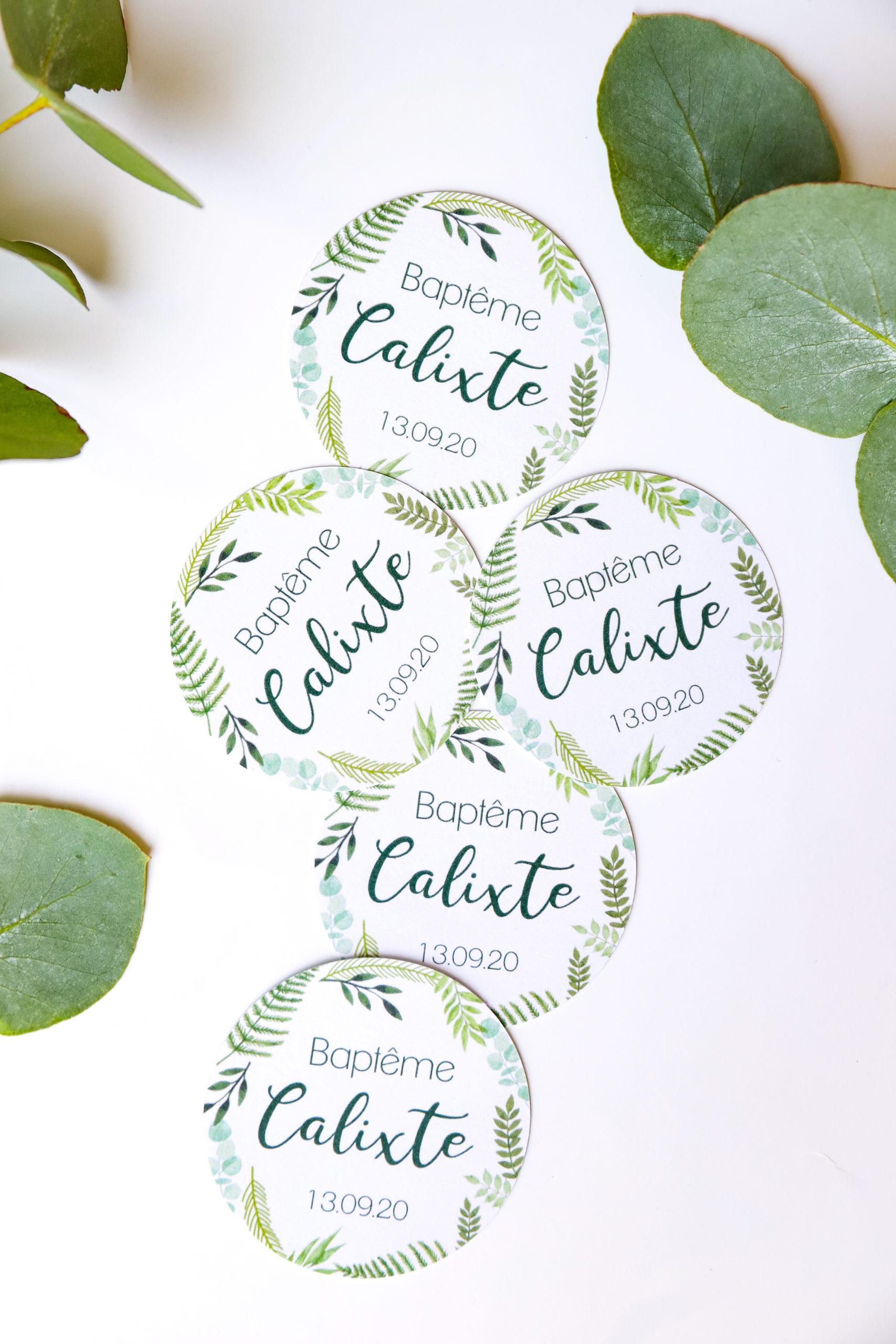 stickers ronds personnalisés
